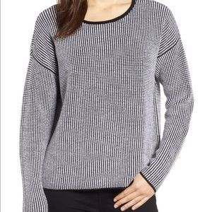 NWT Eileen Fisher Textured Merino Wool Sweater MP